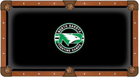 North Dakota Fighting Hawks Green Circular Logo Billiard Pool Table Cloth - Sporting Up