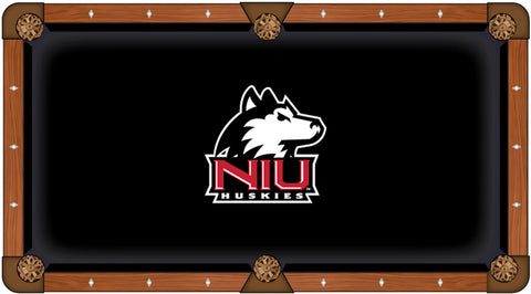 "Northern Illinois Huskies Black with ""NIU"" Logo Billiard Pool Table Cloth"