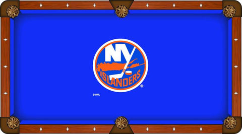 New York NY Islanders Holland Bar Stool Co. Blue Billiard Pool Table Cloth