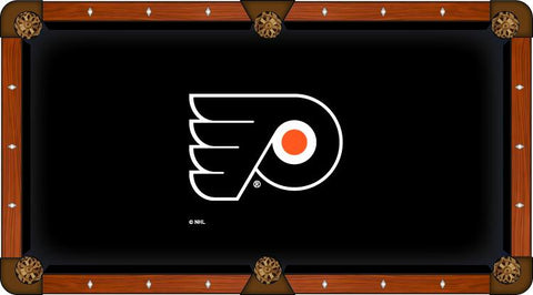 Philadelphia Flyers Holland Bar Stool Co. Black Billiard Pool Table Cloth