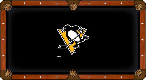 Pittsburgh Penguins Holland Bar Stool Co. Black Billiard Pool Table Cloth