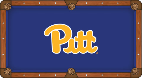 "Pittsburgh Panthers HBS Navy with ""PITT"" Logo Billiard Pool Table Cloth"