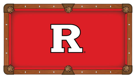 Rutgers Scarlet Knights HBS Red with White Logo Billiard Pool Table Cloth