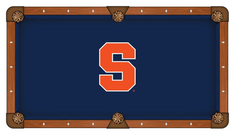 Syracuse Orange HBS Navy with Orange Logo Billiard Pool Table Cloth