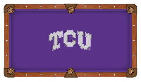 TCU Horned Frogs HBS Purple with Gray Logo Billiard Pool Table Cloth