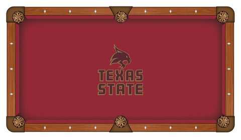 Texas State Bobcats Holland Bar Stool Co. Red Billiard Pool Table Cloth