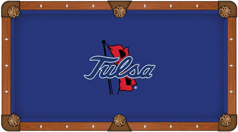 Tulsa Golden Hurricane Holland Bar Stool Co. Blue Billiard Pool Table Cloth