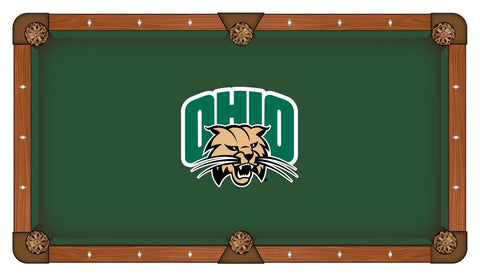 Ohio Bobcats Holland Bar Stool Co. Green Billiard Pool Table Cloth