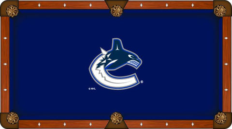 Vancouver Canucks Holland Bar Stool Co. Navy Billiard Pool Table Cloth