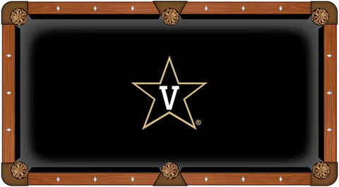 Vanderbilt Commodores HBS Black with Star Logo Billiard Pool Table Cloth