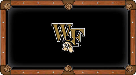 "Wake Forest Demon Deacons HBS Black ""WF"" Logo Billiard Pool Table Cloth"