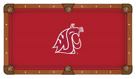 Washington State Cougars HBS Red with White Logo Billiard Pool Table Cloth