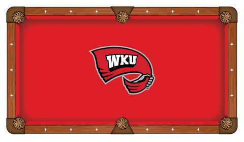 "Western Kentucky Hilltoppers Red with ""WKU"" Logo Billiard Pool Table Cloth"