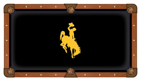 Shop Wyoming Cowboys HBS Black with Yellow Logo Billiard Pool Table Cloth - Sporting Up