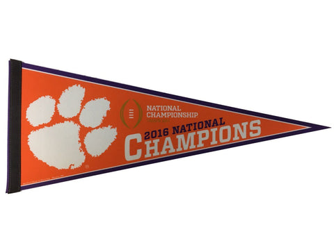 "Clemson Tigers 2016 Football National Champions Classic Pennant (12"" x 30"")"