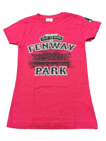 Shop Boston Red Sox SAAG Youth Girls Pink Fenway Park 100 Years T-Shirt