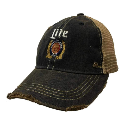 Miller Lite Brewing Company Retro Brand Vintage Mesh Beer Adjustable Hat Cap