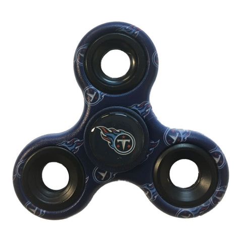 Tennessee Titans NFL Navy Multi-Logo Three Way Diztracto Fidget Hand Spinner