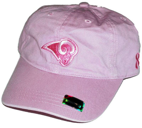 Shop St. Louis Rams Women's Reebok Pink Relax Slouch Adjustable Hat Cap - Sporting Up
