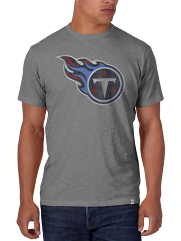 Shop Tennessee Titans 47 Brand Wolf Gray Soft Cotton Scrum T-Shirt - Sporting Up