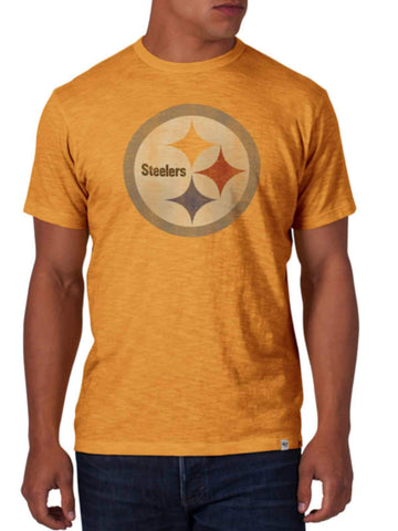 Shop Pittsburgh Steelers 47 Brand Mustard Yellow Soft Cotton Scrum T-Shirt