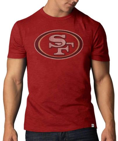 Shop San Francisco 49ers 47 Brand Rescue Red Soft Cotton Scrum T-Shirt