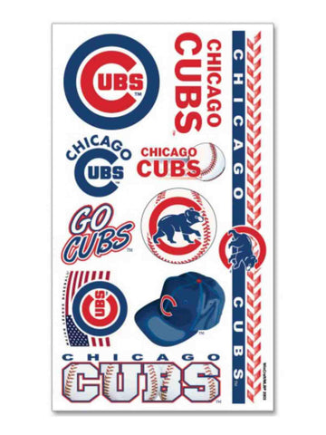 Shop Chicago Cubs WinCraft Gameday Red Blue Temporary Tattoos