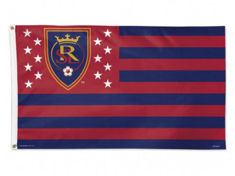 Shop Real Salt Lake City America Stars & Stripes Deluxe Indoor Outdoor Flag (3' x 5') - Sporting Up