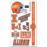 Illinois Fighting Illini WinCraft Gameday Orange Temporary Tattoos (Set of 2)