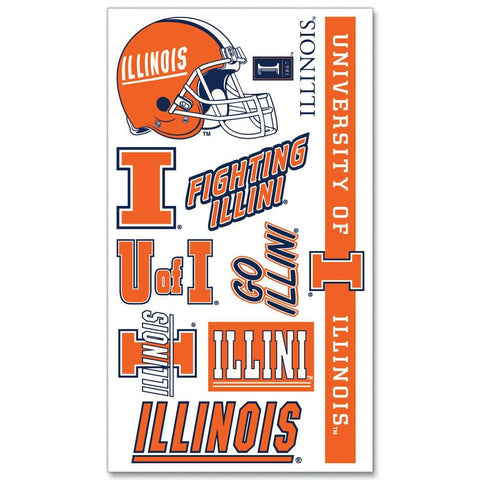 Shop Illinois Fighting Illini WinCraft Gameday Orange Temporary Tattoos (Set of 2)