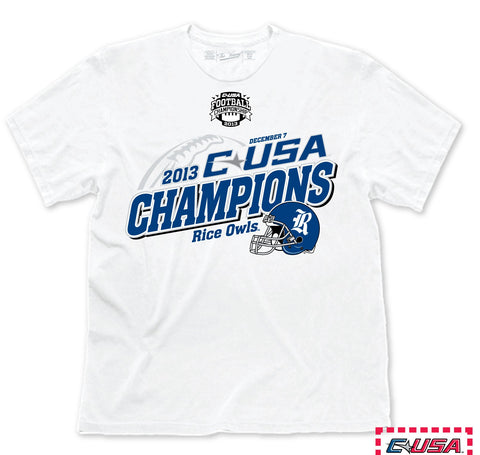 Rice Owls Victory 2013 Conference USA Football Champions Locker Room T-Shirt