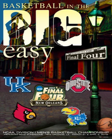 "Shop 2012 Official NCAA Final Four ""The Big Easy"" College Basketball Print Poster"