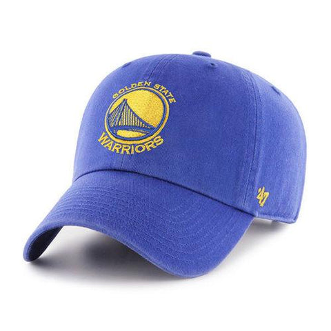 Shop Golden State Warriors 47 Brand Royal Blue Clean Up Adjustable Slouch Hat Cap - Sporting Up