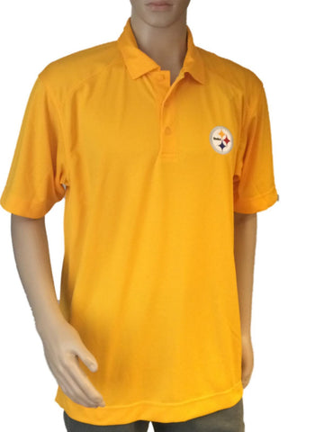 Pittsburgh Steelers Cutter & Buck Yellow Gold DryTec Performance Golf Polo Shirt - Sporting Up