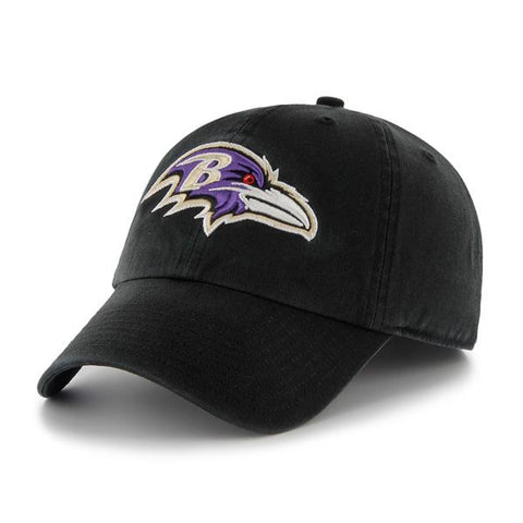 Shop Baltimore Ravens 47 Brand Classic Black The Franchise Fitted Hat Cap