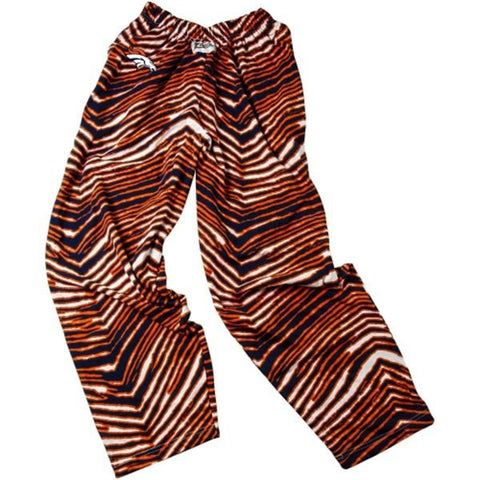 Shop Denver Broncos ZUBAZ Navy Orange Vintage Vintage Zebra Style Pants - Sporting Up
