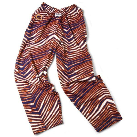 Chicago Bears ZUBAZ Navy Orange Vintage Zebra Style Logo Pants