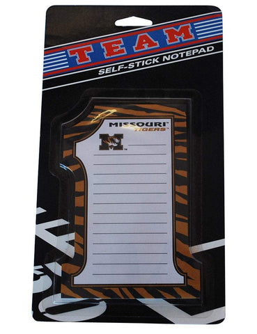 "Shop Missouri Tigers #1 Westrick Paper Co. Lot of 5 Self-Stick 25 Sheet Notepad 4""x6"" - Sporting Up"