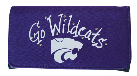 Shop Kansas State Wildcats Gameday Outfitters Purple Go Wildcats Ladies Wallet 7x4