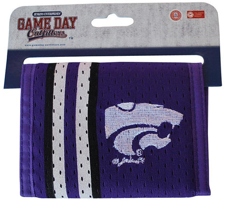 Shop Kansas State Wildcats Gameday Outfitters Purple Mesh Striped Logo Wallet