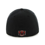 Ottawa Senators 47 Brand Franchise Black Relax Fitted Hat Cap - Sporting Up