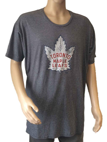 Shop Toronto Maple Leafs Retro Brand Gray White Vintage Style Tri-Blend T-Shirt