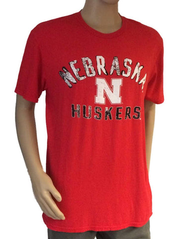 Shop Nebraska Cornhuskers Blue 84 Red White-Black Logo Tri-Blend T-Shirt