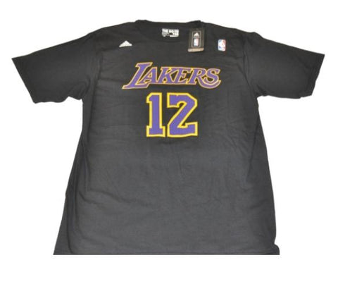 Dwight Howard  12 Los Angeles Lakers Adidas 100% Cotton Black T-Shirt 3299c93369be