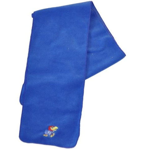 Shop Kansas Jayhawks GII Team Mascot Embroidered Blue Fleece Scarf