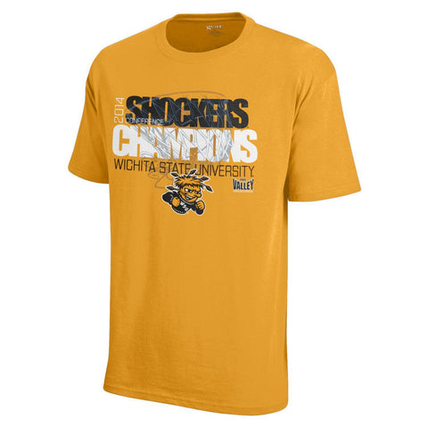 Wichita State Shockers 2014 Missouri Valley Conference Champions Gold T-Shirt
