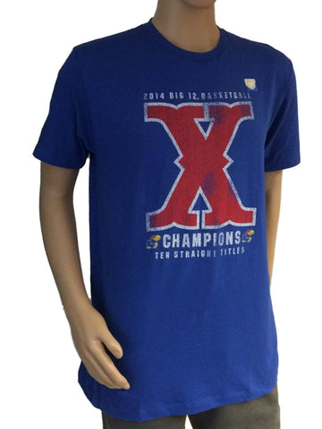 Shop Kansas Jayhawks 2014 Big 12 Basketball Champions 10 X Straight Victory T-Shirt - Sporting Up