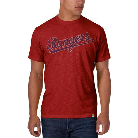 Shop Texas Rangers 47 Brand Cooperstown Collection Red Vintage Scrum T-Shirt