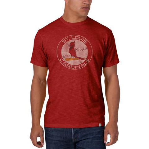Shop St. Louis Cardinals 47 Brand Cooperstown Red Vintage Logo Scrum T-Shirt - Sporting Up