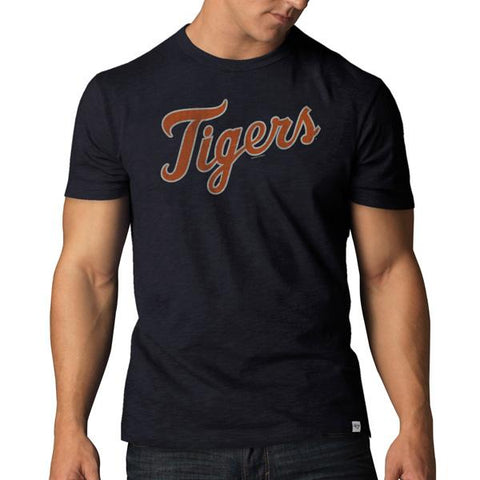 Shop Detroit Tigers 47 Brand Cooperstown Collection Navy Vintage Scrum T-Shirt
